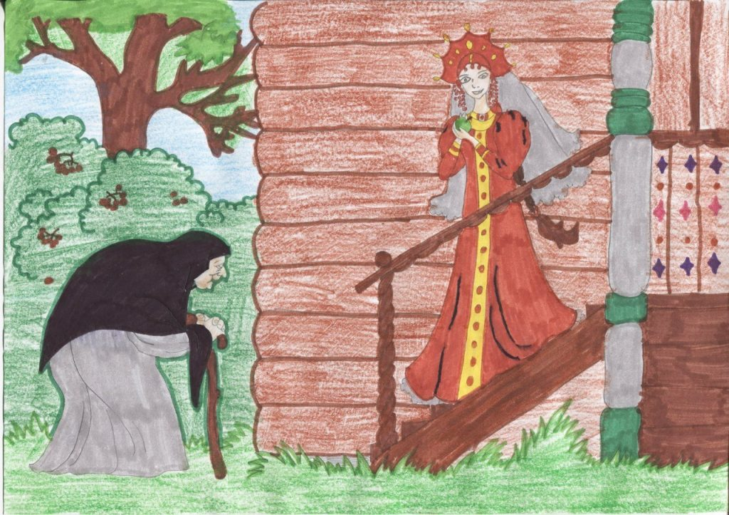 Красивые рисунки о Мёртвой царевне и о семи богатырях (3)