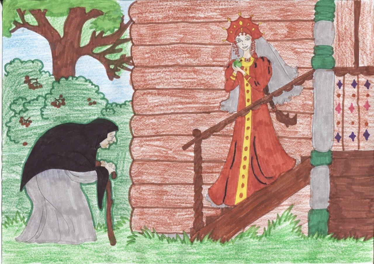 Картинки из сказки спящая царевна и семь богатырей