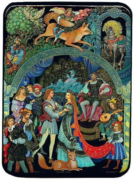 Красивые рисунки о Мёртвой царевне и о семи богатырях (6)