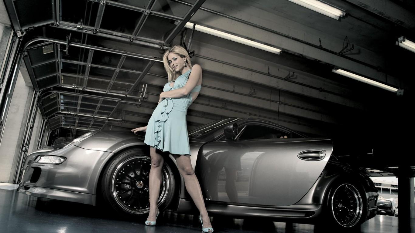 Крутые картинки на рабочий стол девушки с авто   подборка (1)