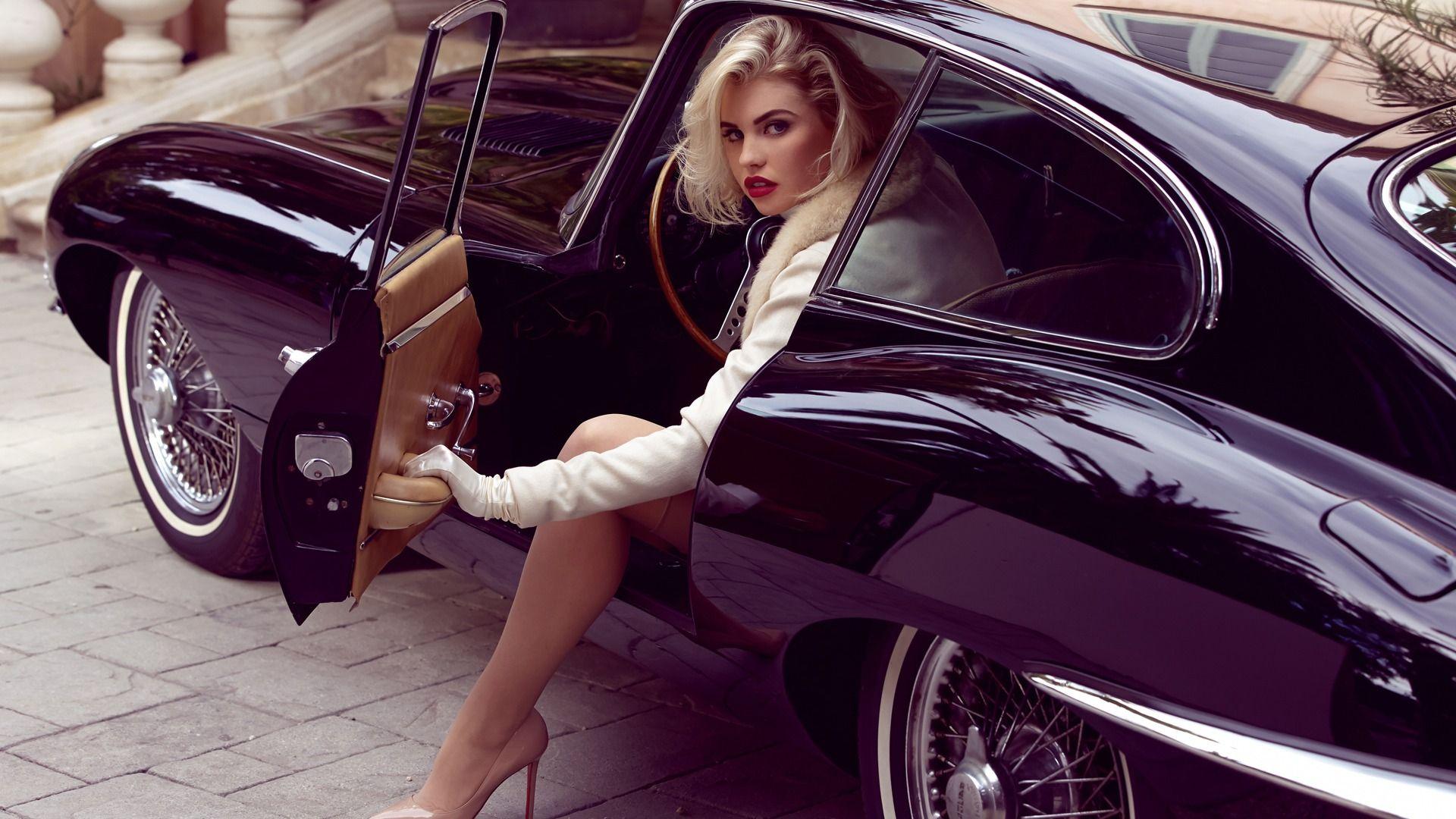 Крутые картинки на рабочий стол девушки с авто   подборка (3)