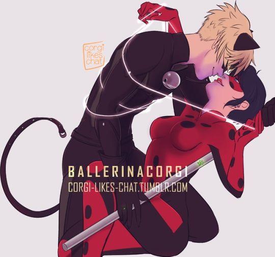 Леди Баг и Супер Кот поцелуи - картинки, арт, изображения (1)