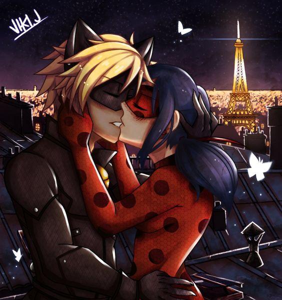 Леди Баг и Супер Кот поцелуи - картинки, арт, изображения (15)