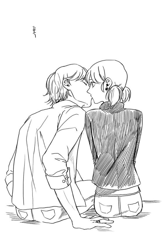 Леди Баг и Супер Кот поцелуи - картинки, арт, изображения (16)