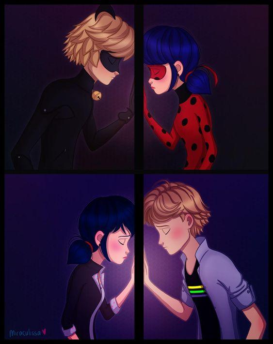 Леди Баг и Супер Кот поцелуи - картинки, арт, изображения (8)