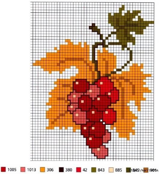 Схемы вышивки крестом для начинающих - маленькие картинки (12)