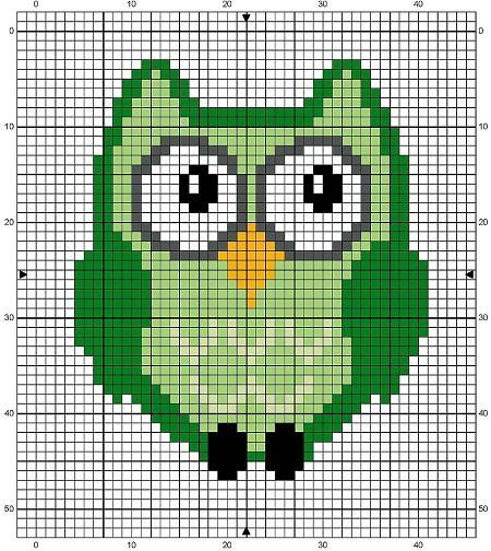Схемы вышивки крестом для начинающих - маленькие картинки (3)