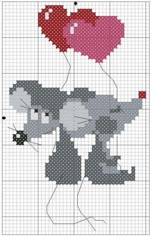 Схемы вышивки крестом для начинающих - маленькие картинки (6)