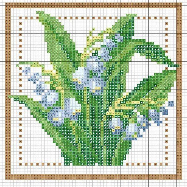 Схемы вышивки крестом для начинающих - маленькие картинки (7)