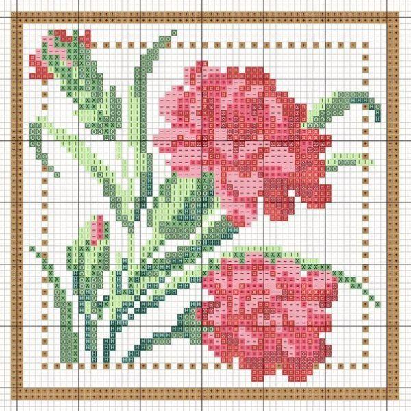 Схемы вышивки крестом для начинающих - маленькие картинки (8)