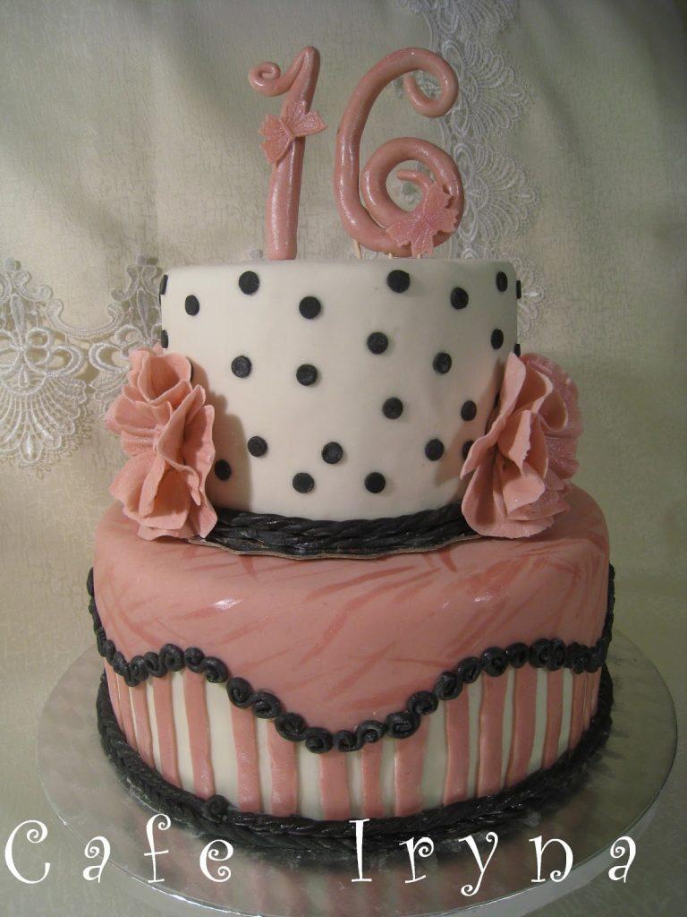 Торт из мастики на 16 лет девушке - красивые фотографии (15)