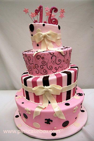 Торт из мастики на 16 лет девушке - красивые фотографии (7)