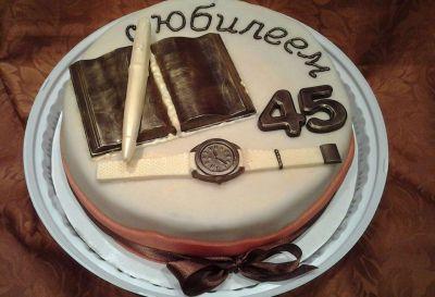 Торт на День Рождения мужчине 45 лет - оригинальные фото тортов (15)