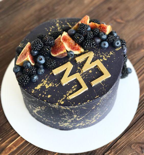 Торт на День Рождения мужчине 45 лет - оригинальные фото тортов (16)