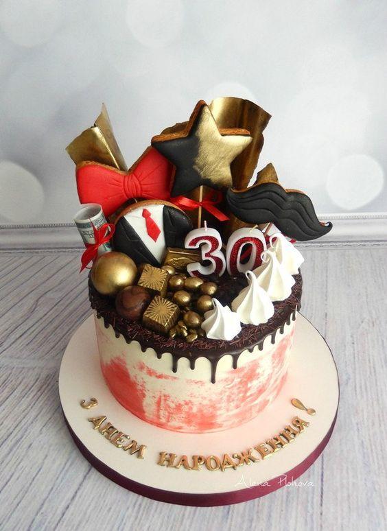 Торт на День Рождения мужчине 45 лет - оригинальные фото тортов (2)