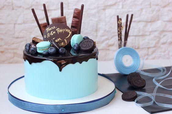 Торт на День Рождения мужчине 45 лет - оригинальные фото тортов (4)