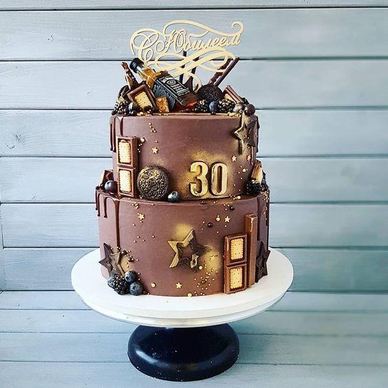 Торт на День Рождения мужчине 45 лет - оригинальные фото тортов (9)