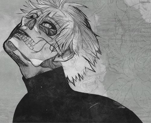 Аниме арты черно-белые парней008