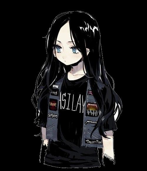 Аниме парень с чёрными волосами и девушка (16)