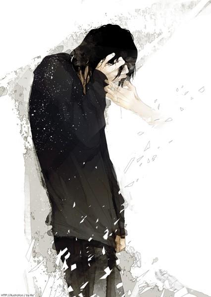 Аниме парень с чёрными волосами и девушка (23)