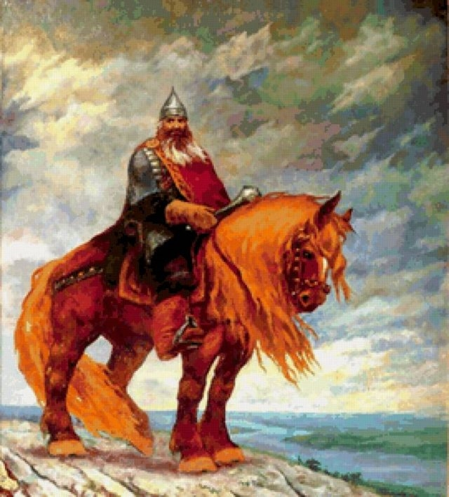 Богатыри на коне картинки красивые 001