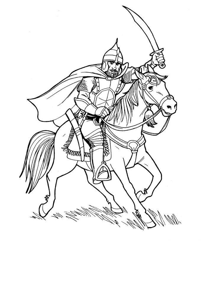 Богатыри на коне картинки красивые 006