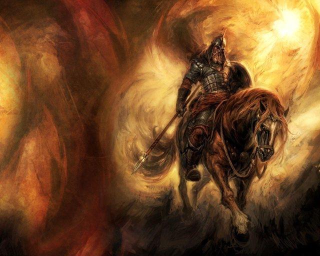 Богатыри на коне картинки красивые 010