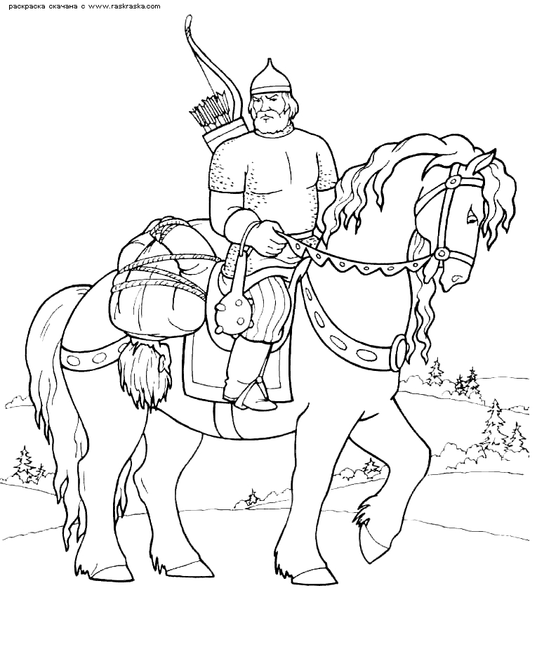 Богатыри на коне картинки красивые 014
