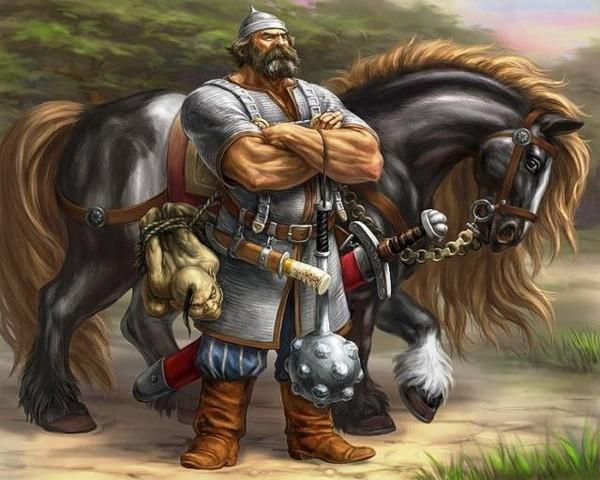 Богатыри на коне картинки красивые 016