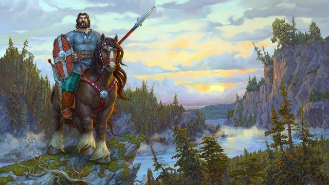 Богатыри на коне картинки красивые 018