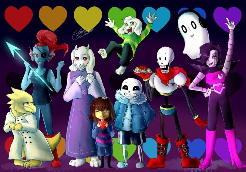 Все персонажи Андертейл имена и картинки017
