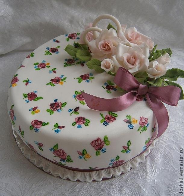 украшение торта на годовщину фото попытались