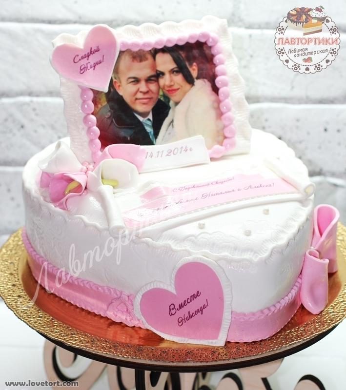 Годовщина свадьбы 1 год торт005