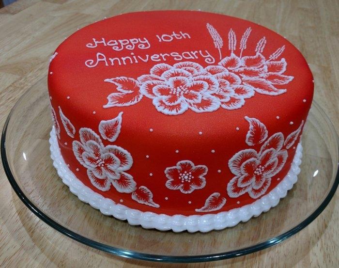 Годовщина свадьбы 1 год торт006
