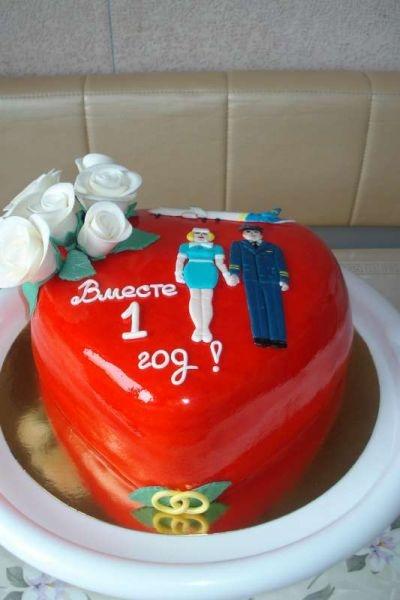 Годовщина свадьбы 1 год торт008