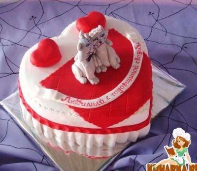 Годовщина свадьбы 1 год торт013