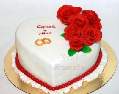 Годовщина свадьбы 1 год торт014