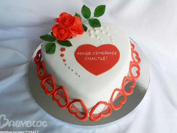 Годовщина свадьбы 1 год торт016