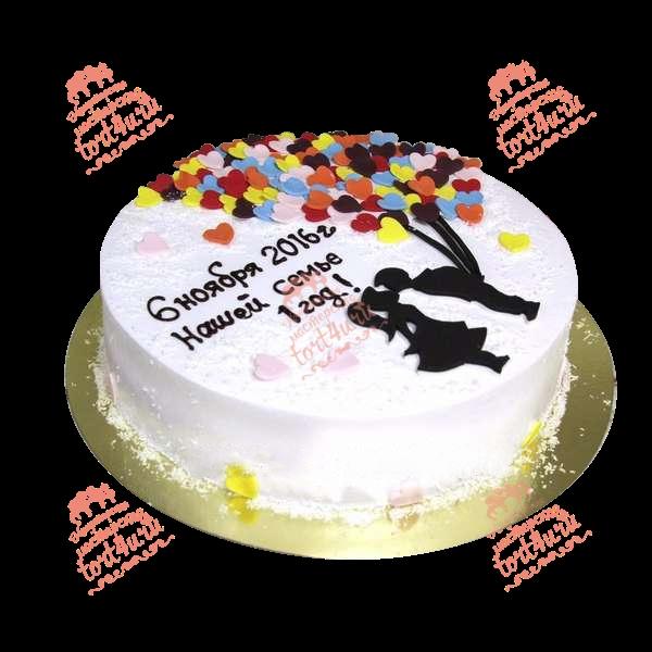 Годовщина свадьбы 1 год торт017