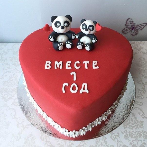 Годовщина свадьбы 1 год торт019