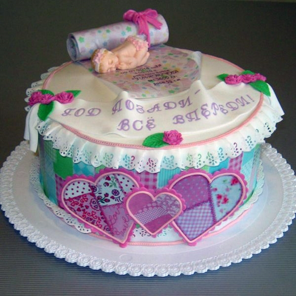 Годовщина свадьбы 1 год торт020