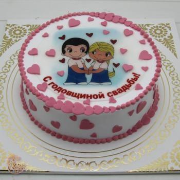 Годовщина свадьбы 1 год торт021