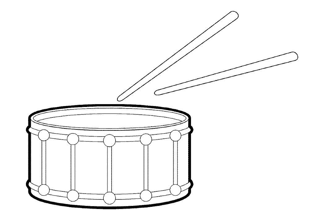 Барабан картинки для раскраски