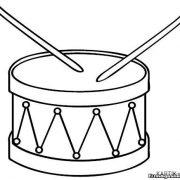 Картинки барабан для детей раскраска023