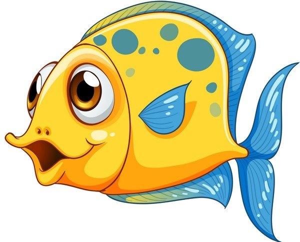 Картинки рыбки для детей на белом фоне (12)