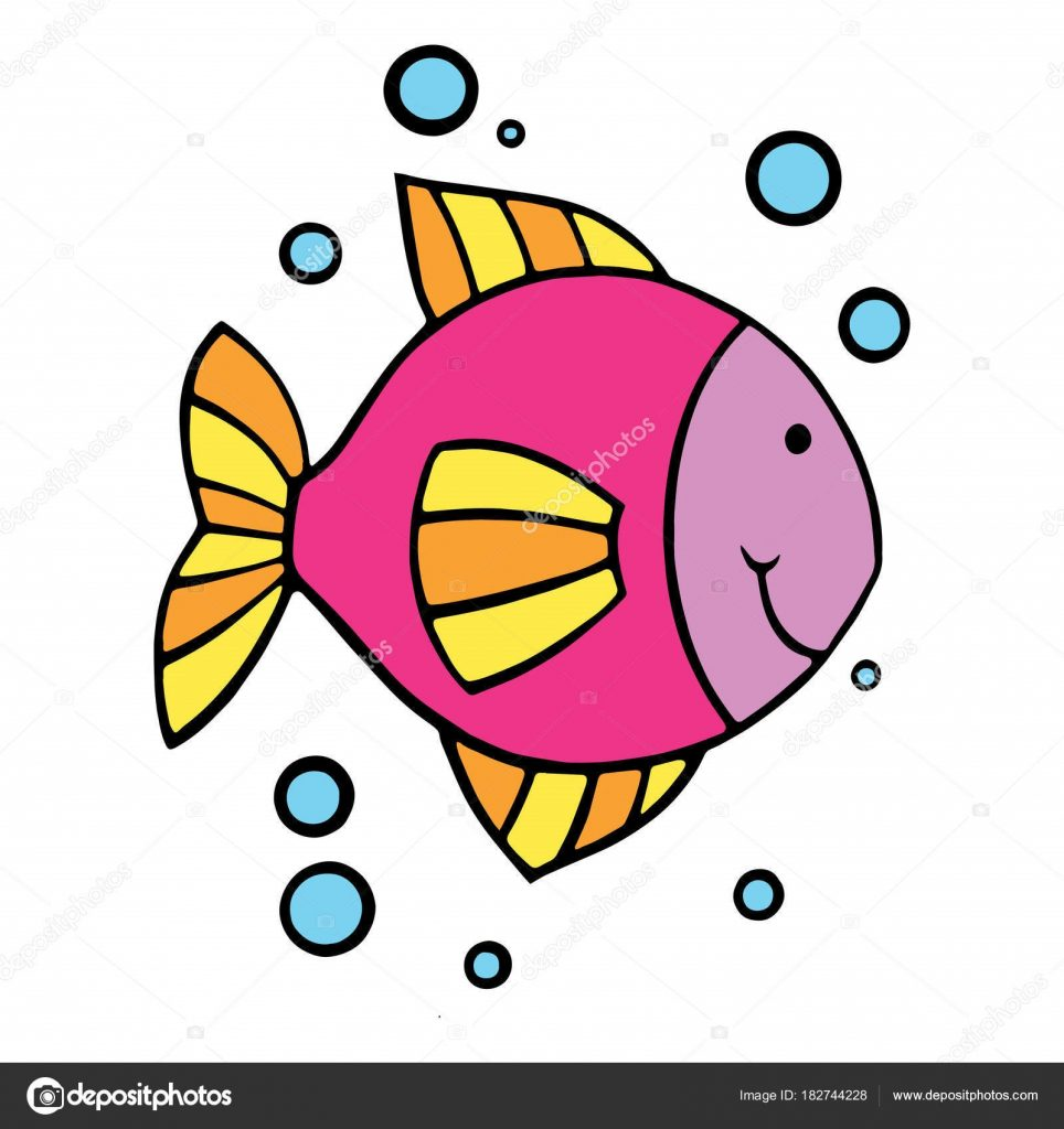 Картинки рыбки для детей на белом фоне (5)