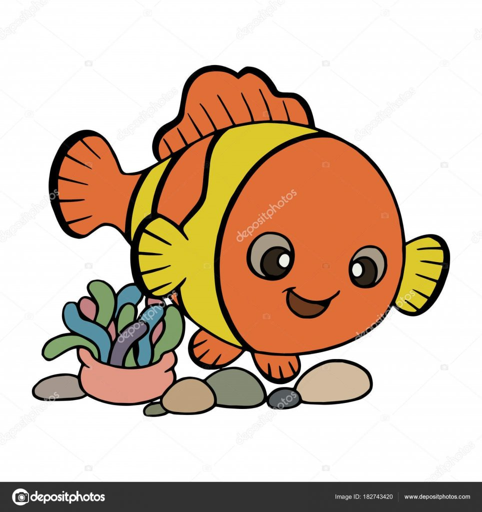 Картинки рыбки для детей на белом фоне (9)