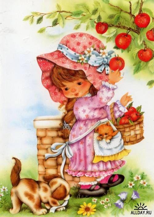 Картинки с детьми рисованные (12)