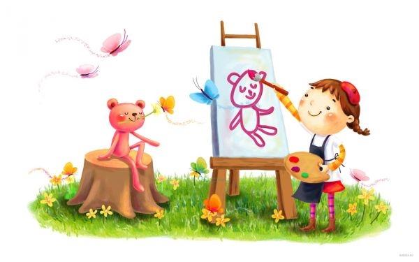 Картинки с детьми рисованные (13)