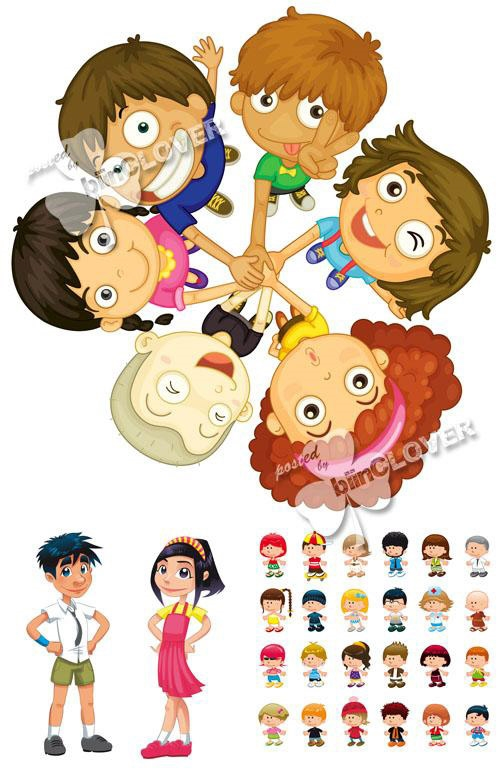 Картинки с детьми рисованные (14)